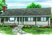Ranch Style House Plan - 3 Beds 1 Baths 1254 Sq/Ft Plan #47-201 Exterior - Front Elevation