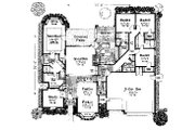 Colonial Style House Plan - 4 Beds 3.5 Baths 2870 Sq/Ft Plan #310-720 Floor Plan - Main Floor