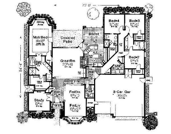 Colonial Floor Plan - Main Floor Plan #310-720