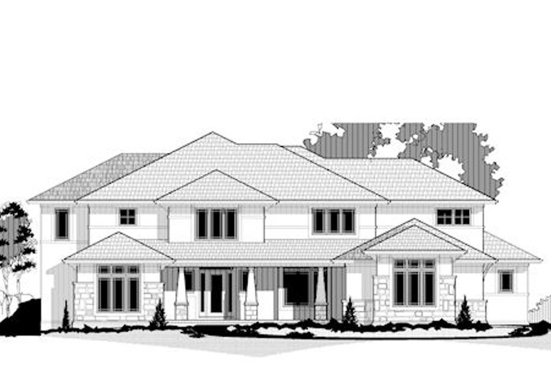 Craftsman Style House Plan - 6 Beds 6.5 Baths 7179 Sq/Ft Plan #67-875 Exterior - Front Elevation