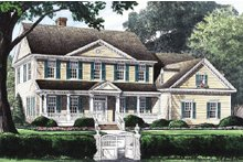 Architectural House Design - Country Exterior - Front Elevation Plan #137-150