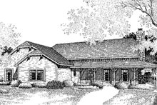 Dream House Plan - Country Exterior - Front Elevation Plan #45-432
