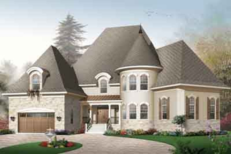 Dream House Plan - European Exterior - Front Elevation Plan #23-668