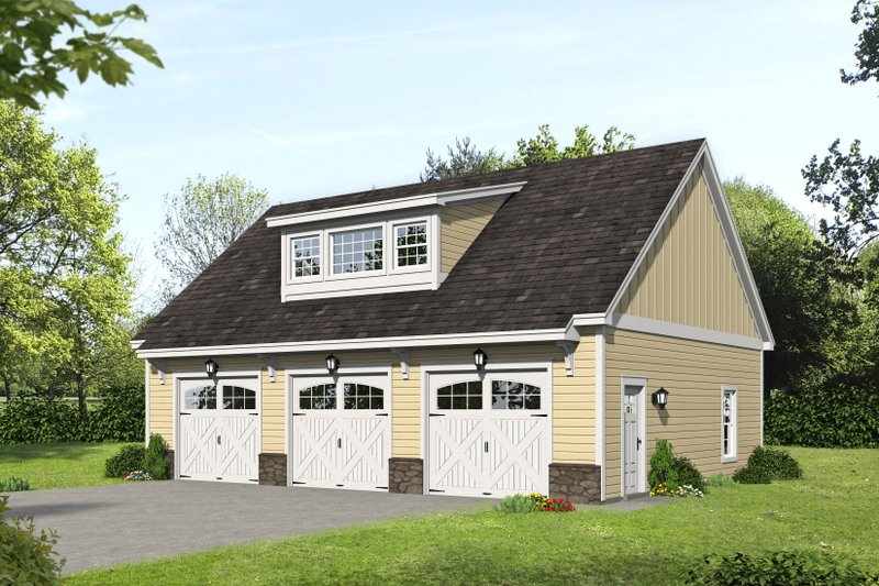 Dream House Plan - Country Exterior - Front Elevation Plan #932-375
