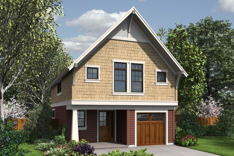 Dream House Plan - Craftsman Exterior - Front Elevation Plan #48-490