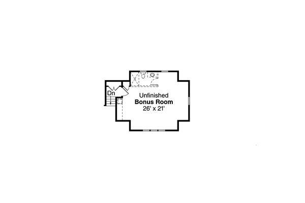 Craftsman Floor Plan - Upper Floor Plan #124-988