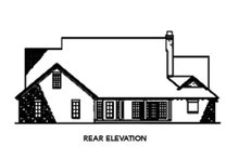 House Plan Design - European Exterior - Rear Elevation Plan #17-209