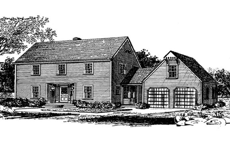 Dream House Plan - Colonial Exterior - Front Elevation Plan #315-109