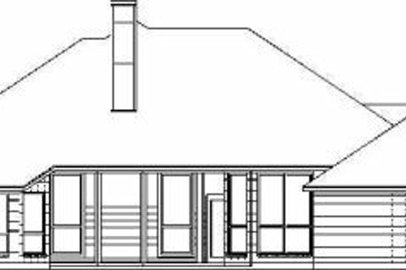 European Exterior - Rear Elevation Plan #84-143 - Houseplans.com