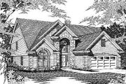 European Style House Plan - 4 Beds 2.5 Baths 2538 Sq/Ft Plan #329-259 Exterior - Front Elevation