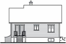 Home Plan - Traditional Exterior - Rear Elevation Plan #23-859