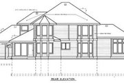 Country Style House Plan - 4 Beds 3 Baths 2534 Sq/Ft Plan #97-207 Exterior - Rear Elevation