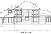 Home Plan - Country Exterior - Rear Elevation Plan #97-207