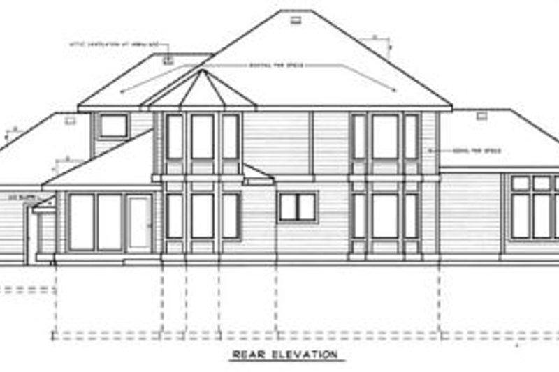 Country Exterior - Rear Elevation Plan #97-207 - Houseplans.com