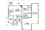 Country Style House Plan - 3 Beds 2.5 Baths 2765 Sq/Ft Plan #124-604 Floor Plan - Main Floor Plan