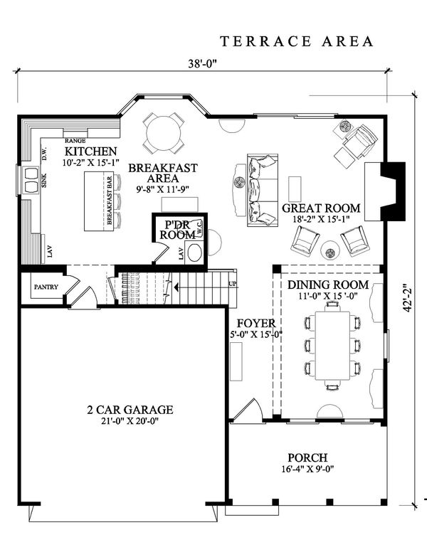 Cottage Floor Plan - Main Floor Plan Plan #137-268