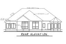 Dream House Plan - Traditional Exterior - Rear Elevation Plan #20-2088