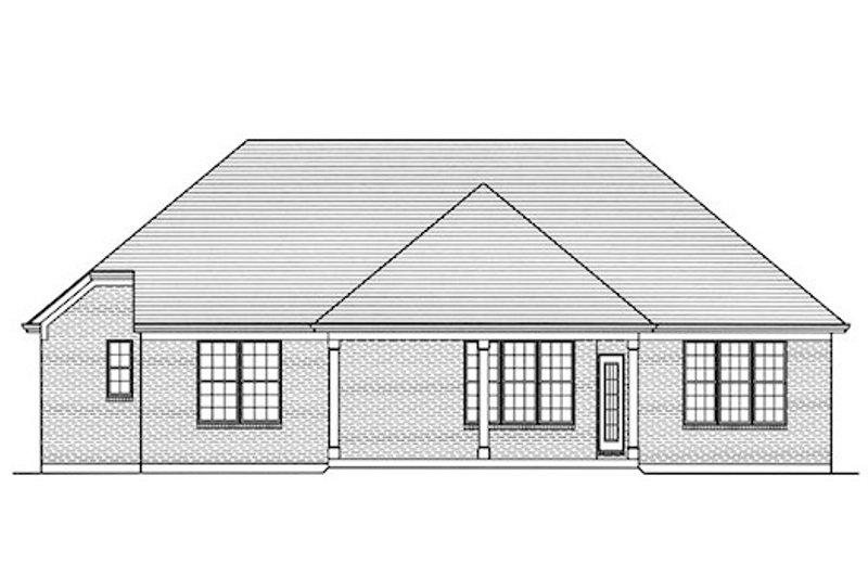 Traditional Exterior - Rear Elevation Plan #46-484 - Houseplans.com