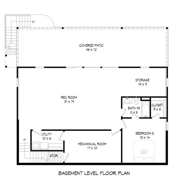 House Plan Design - Cabin Floor Plan - Lower Floor Plan #932-264