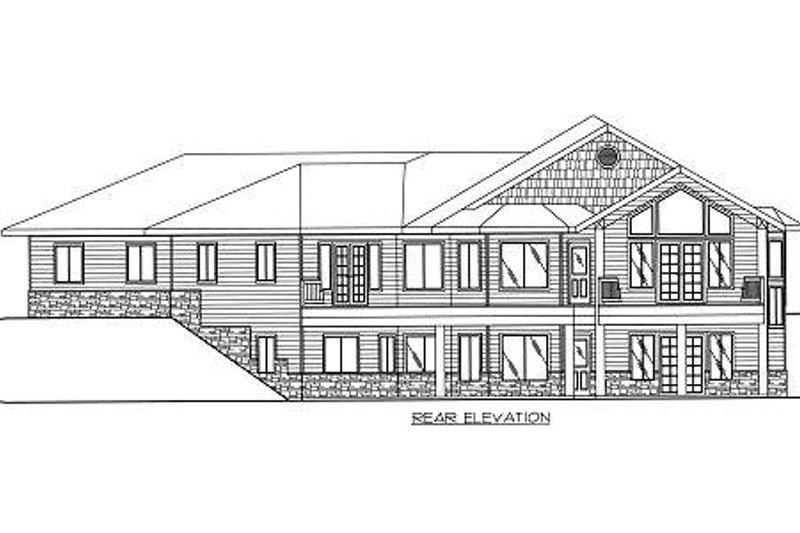 Bungalow Exterior - Rear Elevation Plan #117-578 - Houseplans.com