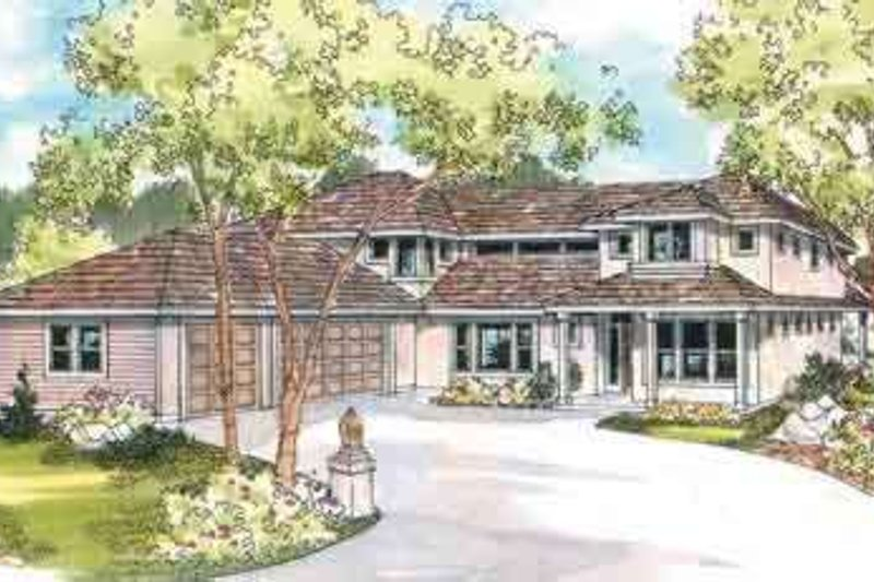 Traditional Exterior - Front Elevation Plan #124-518 - Houseplans.com