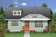 Craftsman Style House Plan - 2 Beds 1 Baths 990 Sq/Ft Plan #84-445 Exterior - Front Elevation