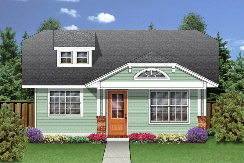Dream House Plan - Craftsman Exterior - Front Elevation Plan #84-445