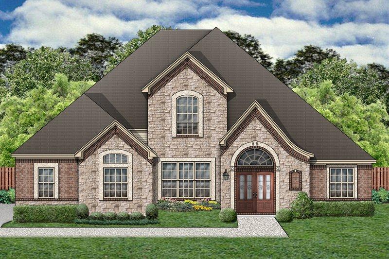 Dream House Plan - European Exterior - Front Elevation Plan #84-402