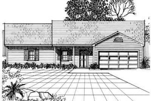 Traditional Exterior - Front Elevation Plan #30-141