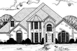 European Exterior - Front Elevation Plan #317-130