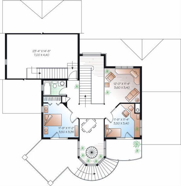 Home Plan - Victorian Floor Plan - Upper Floor Plan #23-725