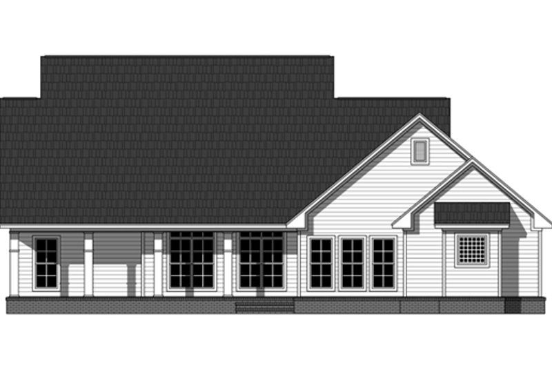 Country Exterior - Rear Elevation Plan #21-335 - Houseplans.com