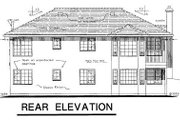 Ranch Style House Plan - 3 Beds 1.5 Baths 1089 Sq/Ft Plan #18-125 Exterior - Rear Elevation