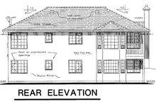House Blueprint - Ranch Exterior - Rear Elevation Plan #18-125