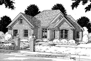 House Design - Traditional Exterior - Front Elevation Plan #20-116