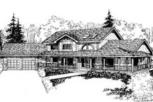 Dream House Plan - Traditional Exterior - Front Elevation Plan #60-157