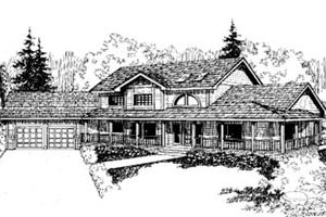 Traditional Exterior - Front Elevation Plan #60-157