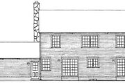 Colonial Style House Plan - 4 Beds 2.5 Baths 2666 Sq/Ft Plan #72-441 Exterior - Rear Elevation