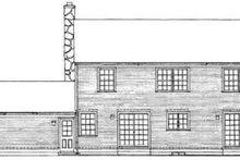 Colonial Exterior - Rear Elevation Plan #72-441