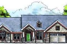 House Plan Design - Traditional Exterior - Front Elevation Plan #70-613