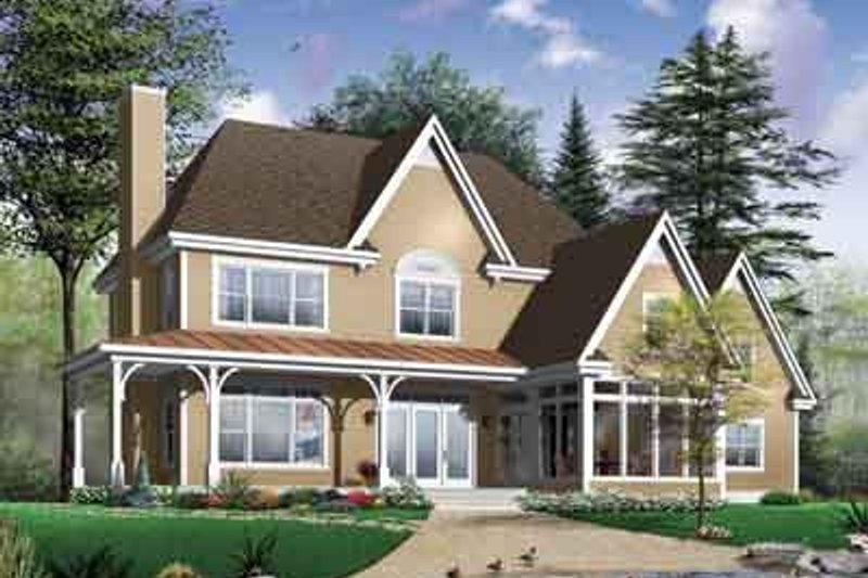 Farmhouse Exterior - Front Elevation Plan #23-666 - Houseplans.com