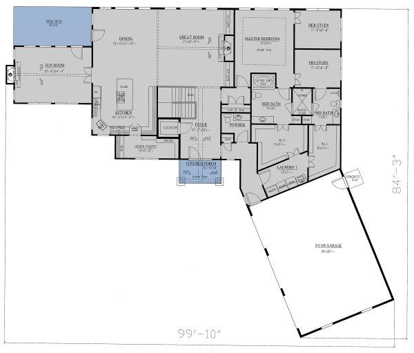 Home Plan - Craftsman Floor Plan - Main Floor Plan #437-121
