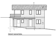 Cottage Style House Plan - 2 Beds 1 Baths 810 Sq/Ft Plan #890-3 Exterior - Other Elevation