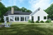 Country Style House Plan - 3 Beds 2 Baths 1813 Sq/Ft Plan #923-128 Exterior - Rear Elevation