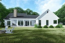 Country Exterior - Rear Elevation Plan #923-128