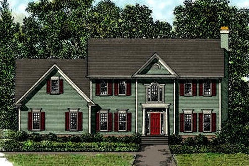 House Plan Design - Colonial Exterior - Front Elevation Plan #56-145