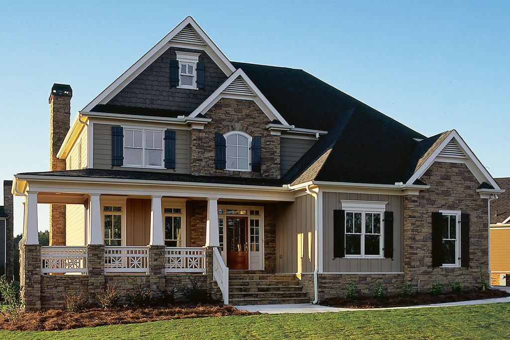 Craftsman Style House Plan - 4 Beds 2.5 Baths 2443 Sq/Ft ...