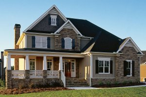 Dream House Plan - Craftsman Exterior - Front Elevation Plan #927-1