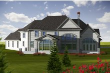 House Design - European Exterior - Rear Elevation Plan #70-1150
