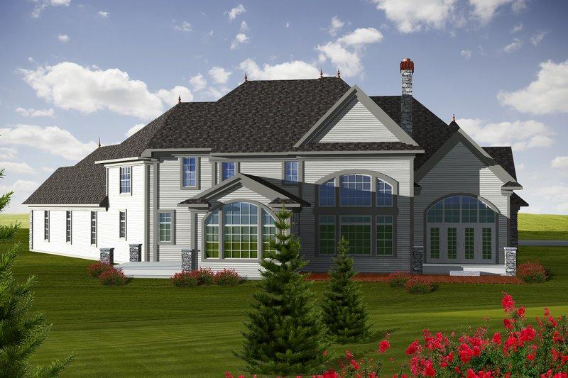 European Exterior - Rear Elevation Plan #70-1150 - Houseplans.com